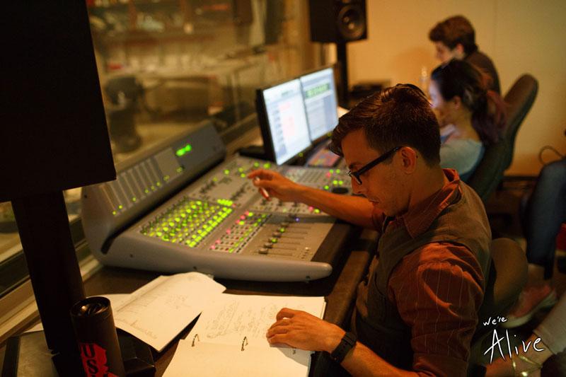 G-Man (Grayson) behind the control board.
