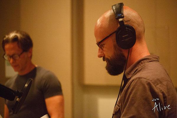 Kc Wayland (me) and Steven Weber in the studio.