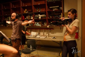 Blaire Wayland (Also known as Lizzy in the series) recording behind the scenes. I don't really know what I'm doing here...