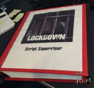 Each script was so big we had to get large binders for each actor.